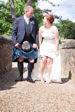 Lynsey Graham's Glasgow Rangers garter!