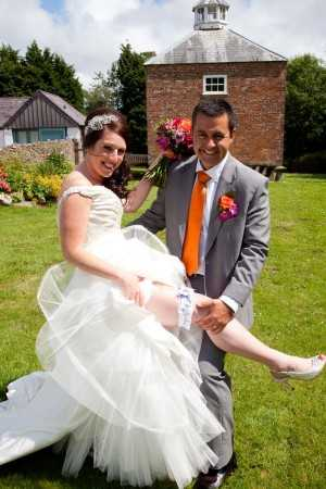 Claire and her new husband both loved the Sheffield garter!