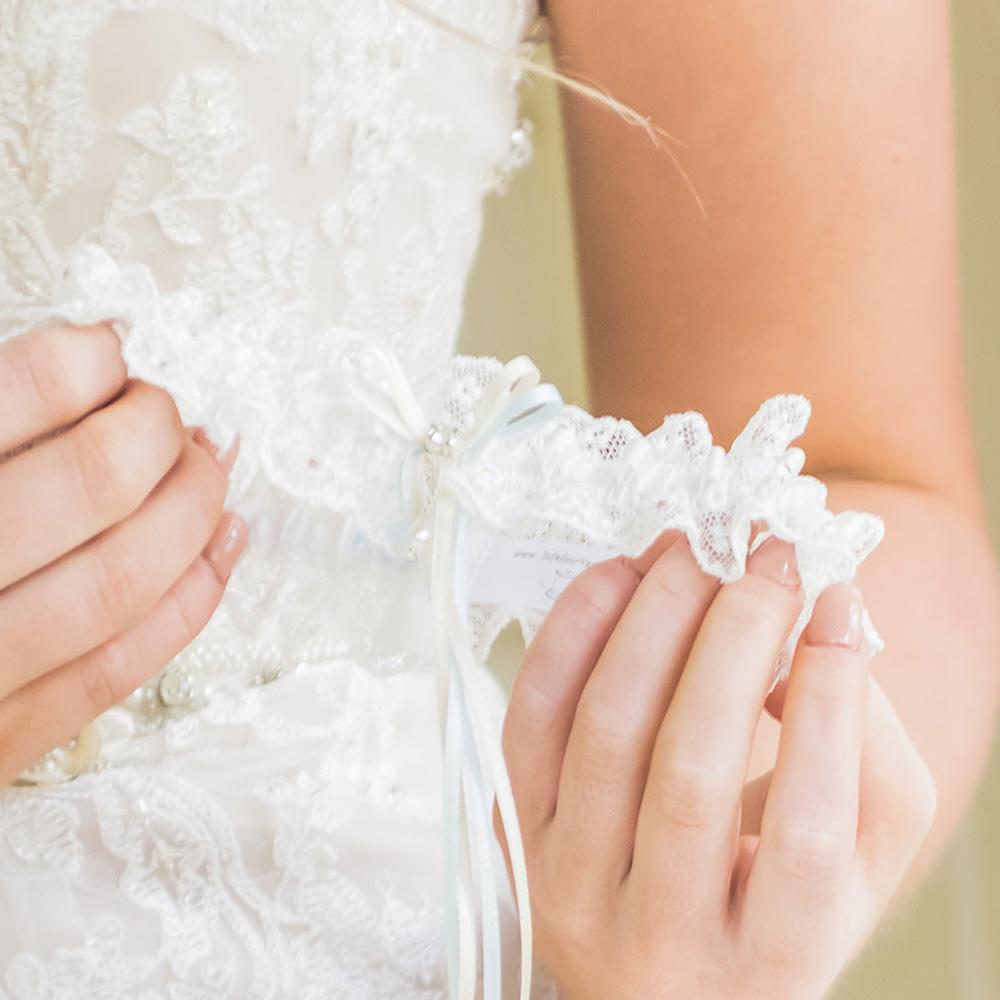 Lily loved the gorgeous Meg wedding garter