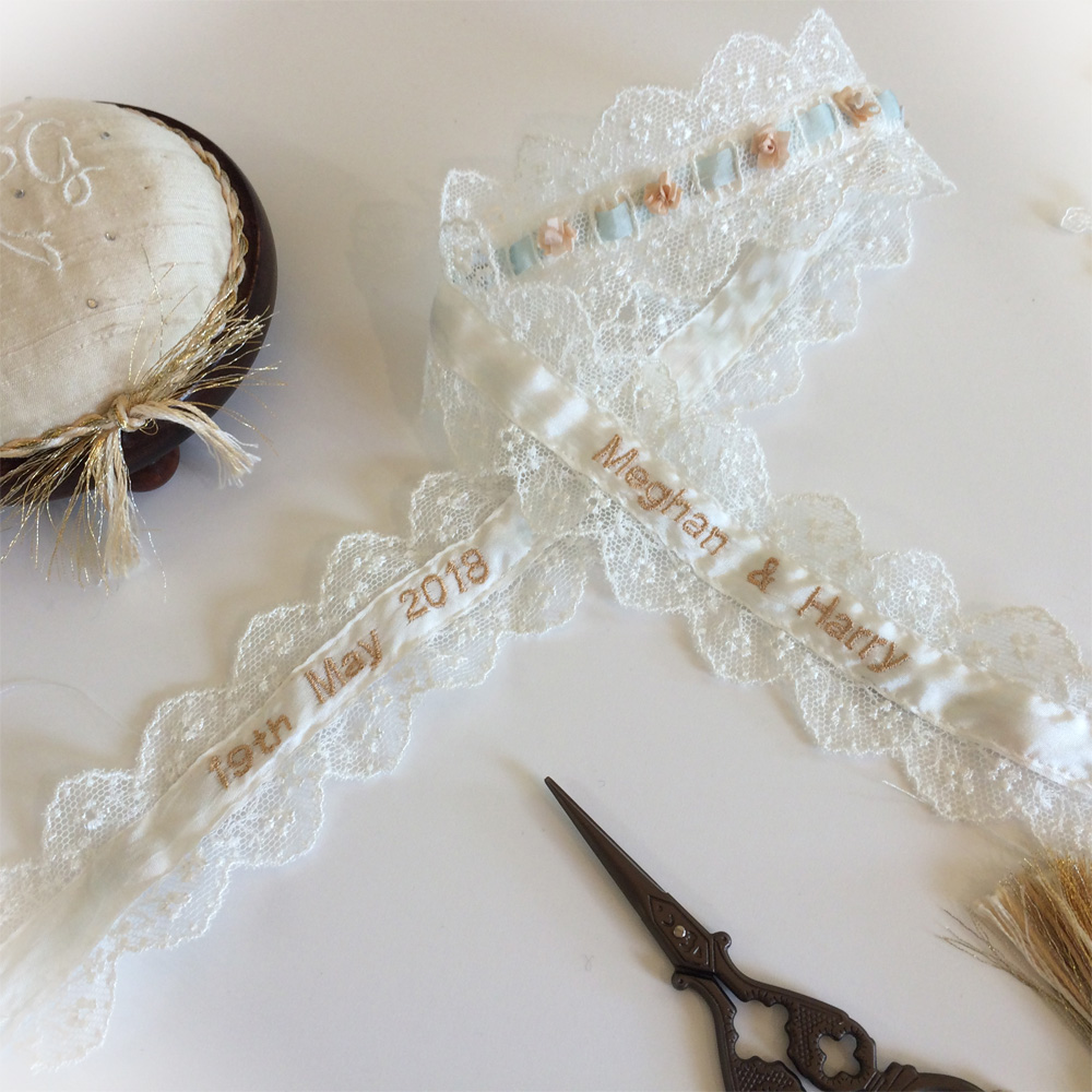 Wedding Garter Personalised inside