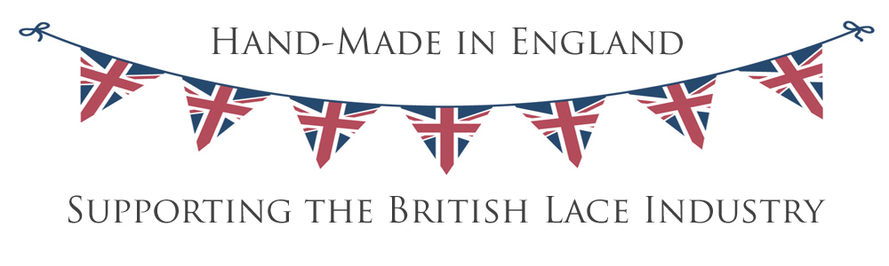 Nottingham lace wedding garters