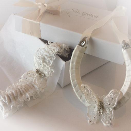 Boho wedding garter set
