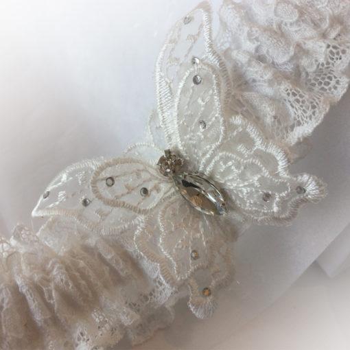 Butterfly wedding garter