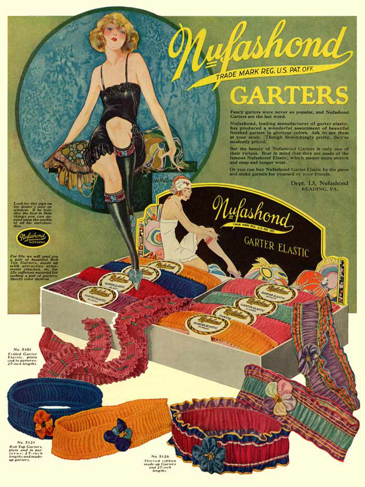 Fabulous Flapper Vintage 1925 Advertisement For Nufashond Garters…
