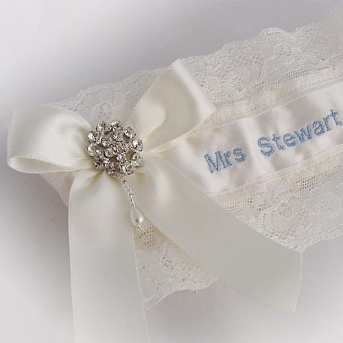 personalised garter uk