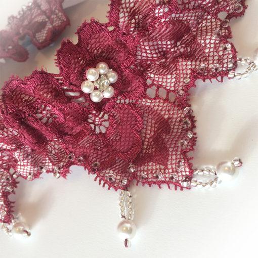 handmade wedding garter
