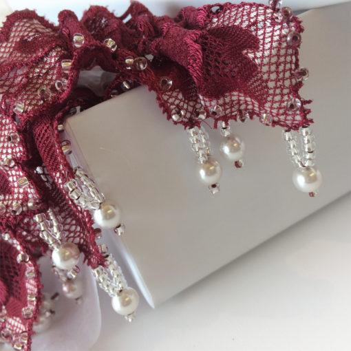handbeaded garter