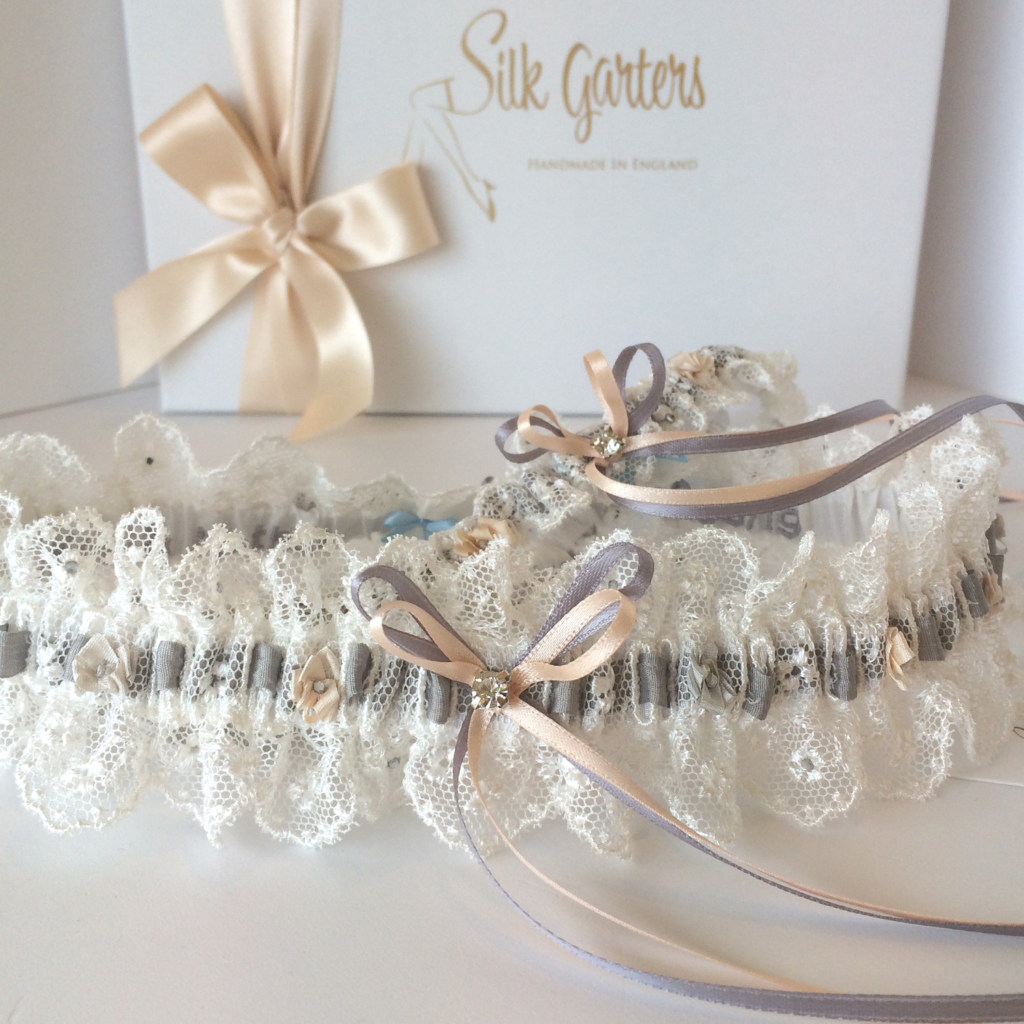 Lace wedding garter set gift for the bride from Mother
