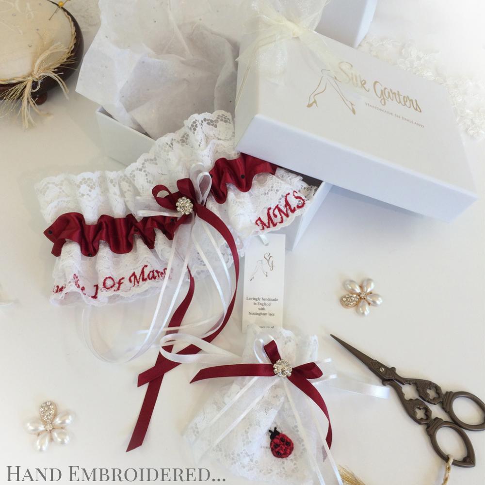 Custom made garters