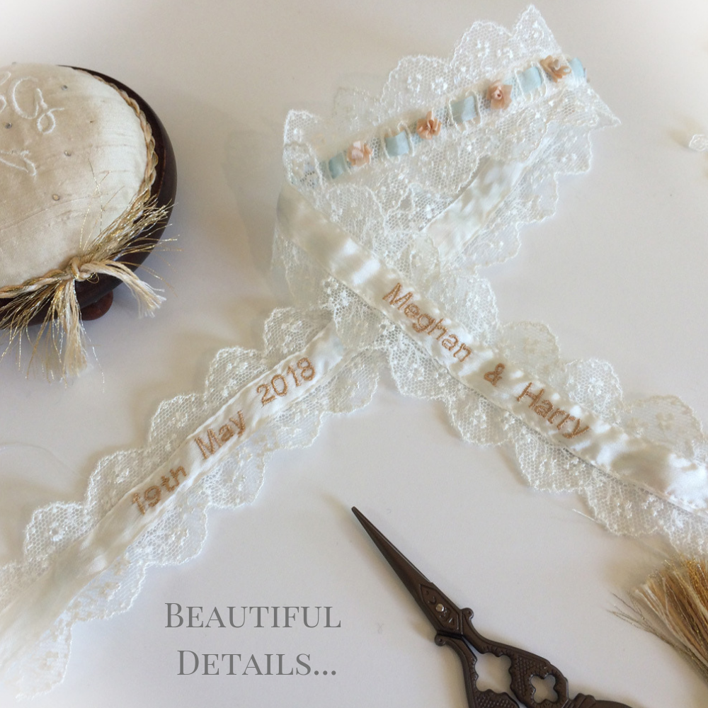 Bridal Garter Personalised inside handmade UK